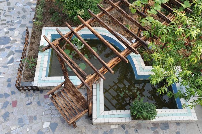 家庭鱼池设计图 庭院展示