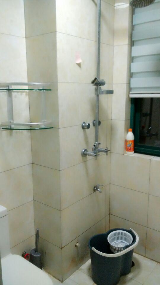 卫生间洗衣机和洗衣池装修效果图